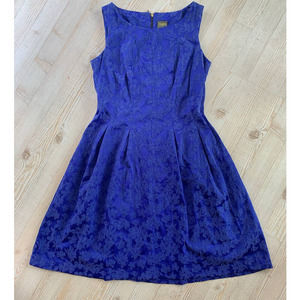 Taylor Blue Fit and Flare Dress